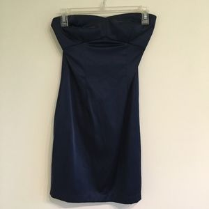 Strapless Blue Dress - Size Small